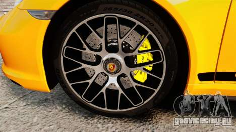 Porsche 911 Turbo 2014 [EPM] Turbo Side Stripes для GTA 4 вид сзади