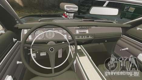 Dodge Charger 1969 для GTA 4 вид сбоку