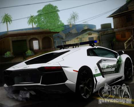 Lamborghini Aventador LP700-4 2012 RCPD V1.0 для GTA San Andreas вид сзади