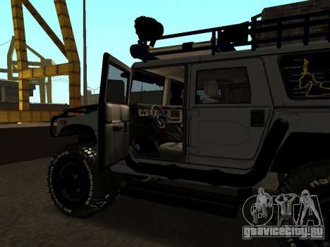 Hummer H1 Offroad для GTA San Andreas вид сбоку