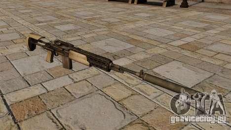 Автоматическая винтовка M14 с глушителем для GTA 4