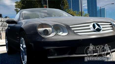 Mercedes-Benz SL65 2007 для GTA 4 вид сзади