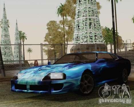 Покрасочная работа для Jester для GTA San Andreas вид сзади слева