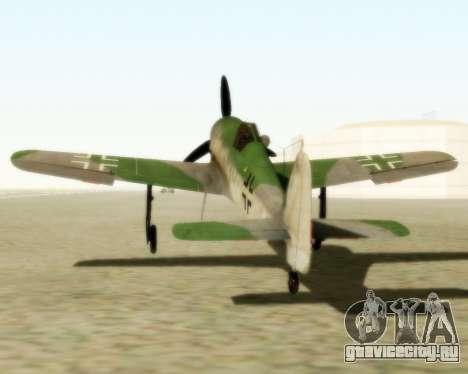 Focke-Wulf FW-190 D12 для GTA San Andreas вид сзади слева