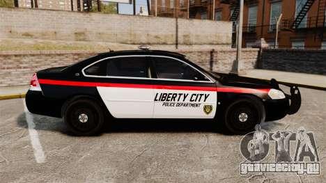 Chevrolet Impala 2008 LCPD STL-K Force [ELS] для GTA 4 вид слева