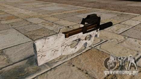 Пистолет-пулемёт P90 Arctic Camo для GTA 4 второй скриншот