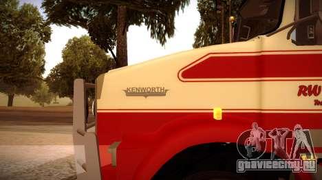 Kenworth RoadTrain T800 для GTA San Andreas вид слева