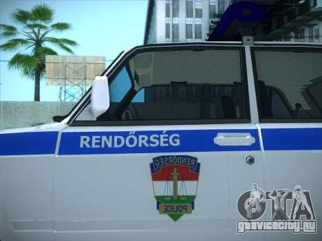 Lada 2107 Rendőrség для GTA San Andreas вид сзади слева
