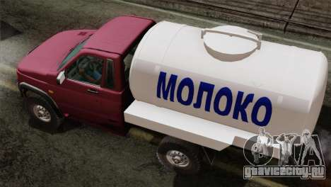 УАЗ 2360 Молоко для GTA San Andreas вид сзади слева