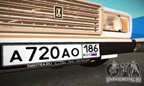 ВАЗ 2107 BUNKER для GTA San Andreas вид сверху