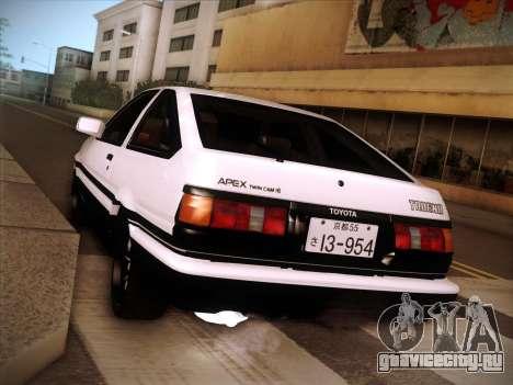 Toyota Trueno AE86 Initial D 4th Stage для GTA San Andreas вид справа