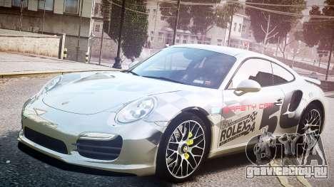 Porsche 911 Turbo 2014 для GTA 4 вид сзади