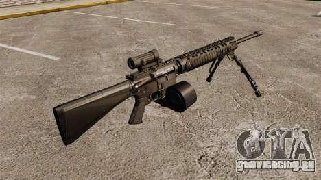 Штурмовая винтовка M16A4 C-MAG Scope для GTA 4 второй скриншот