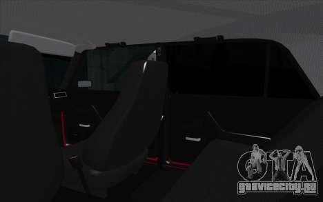 ВАЗ 2107 для GTA San Andreas двигатель