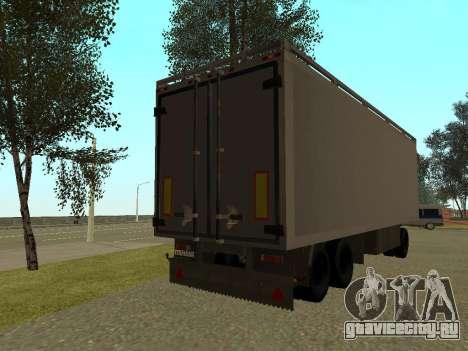 Прицеп для КамАЗа 54115 для GTA San Andreas вид сзади слева
