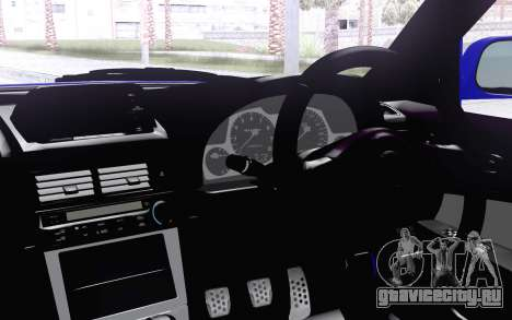 Nissan Skyline GT-R34 для GTA San Andreas вид сзади