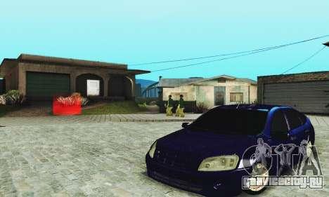 Лада Гранта Хетчбэк для GTA San Andreas вид изнутри
