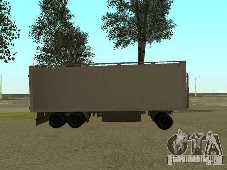Прицеп для КамАЗа 54115 для GTA San Andreas вид слева
