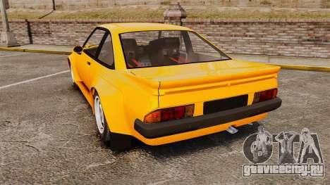 Opel Manta для GTA 4 вид сзади слева