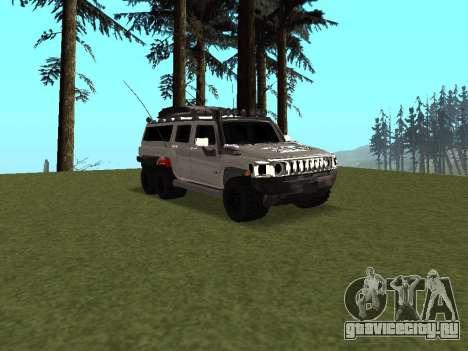 Hummer H3 6x6 для GTA San Andreas вид изнутри
