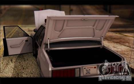 Ford Fairmont 1978 4dr Police для GTA San Andreas вид изнутри