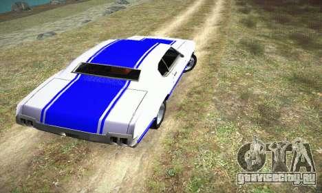 GTA IV Sabre Turbo для GTA San Andreas вид слева
