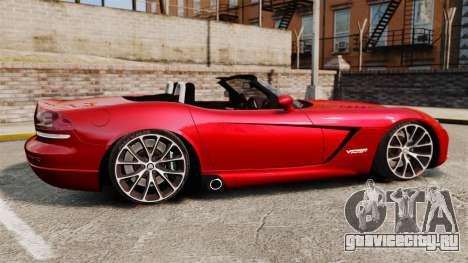 Dodge Viper SRT-10 2003 для GTA 4 вид слева