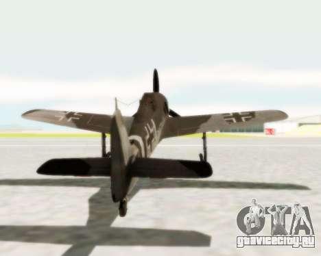 Focke-Wulf FW-190 A5 для GTA San Andreas вид справа