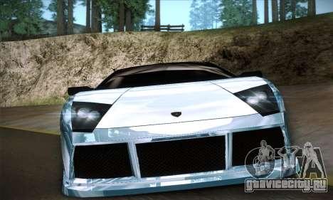 Lamborghini Murcielago GT Coloured для GTA San Andreas вид изнутри