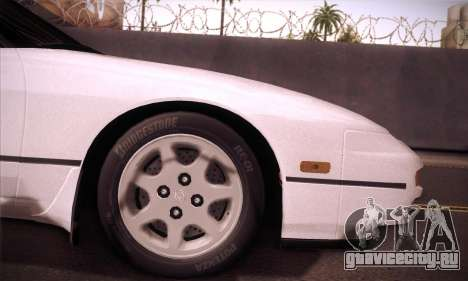Nissan 240SX 1991 Tunnable для GTA San Andreas вид сзади