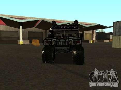 Hummer H1 Offroad для GTA San Andreas вид сзади