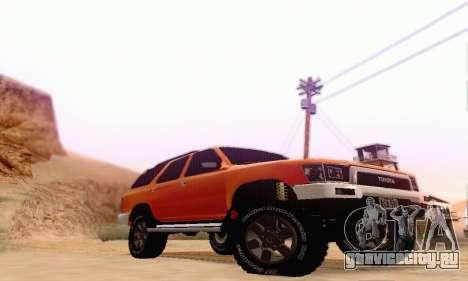 Toyota 4Runner 1995 для GTA San Andreas вид сзади слева