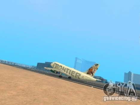 Airbus A319-111 Frontier Airlines Red Foxy для GTA San Andreas салон