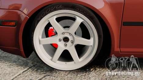 Volkswagen Bora VR6 2003 для GTA 4 вид сзади