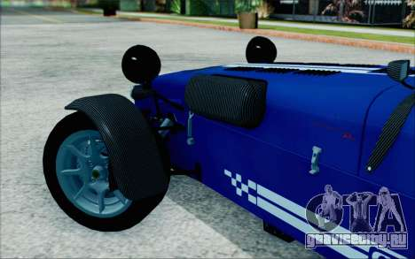 Caterham R500 Superlight 2008 для GTA San Andreas вид сзади слева
