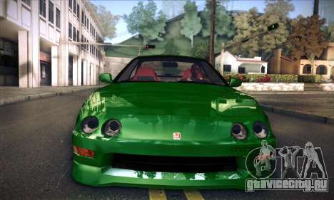 Honda Integra Normal Driving для GTA San Andreas вид сзади слева