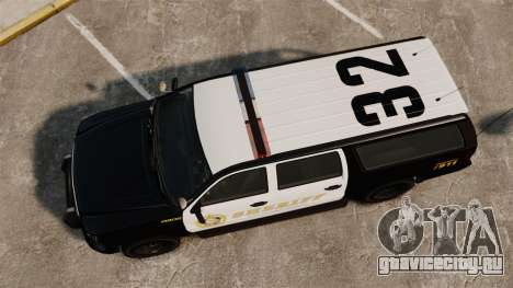 GTA V Declasse Granger Sheriff для GTA 4 вид справа