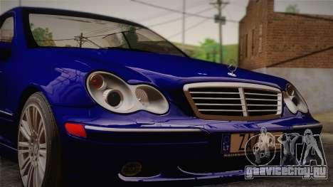 Mercedes-Benz C320 Elegance 2004 для GTA San Andreas вид сзади слева