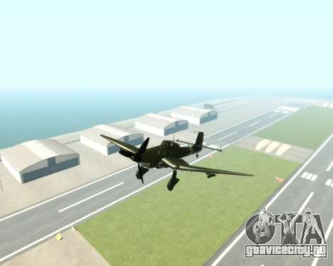 Junkers Ju-87 Stuka для GTA San Andreas вид справа