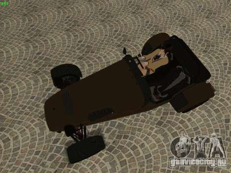 Caterham 7 Superlight R500 для GTA San Andreas вид сбоку