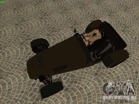 Caterham 7 Superlight R500 для GTA San Andreas вид сбоку