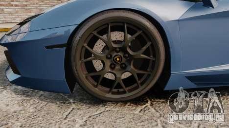 Lamborghini Aventador LP760-4 Oakley Edition v2 для GTA 4 вид сзади