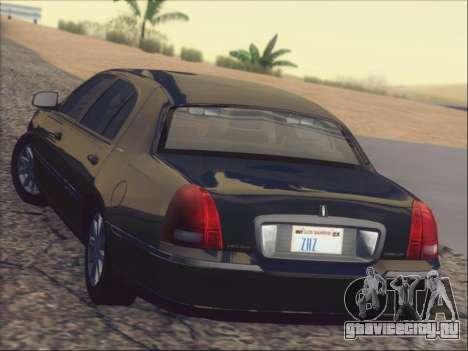 Lincoln Town Car 2010 для GTA San Andreas салон