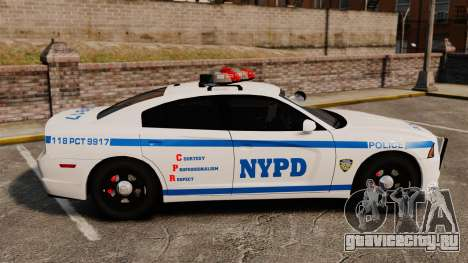 Dodge Charger 2012 NYPD [ELS] для GTA 4 вид слева