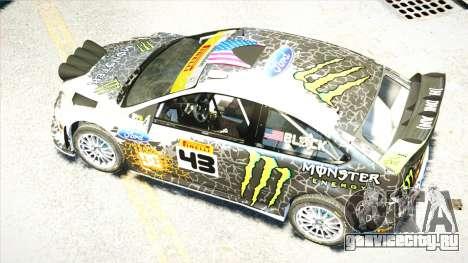 Ford Focus RS Monster World Rally Team WRC для GTA 4 вид изнутри