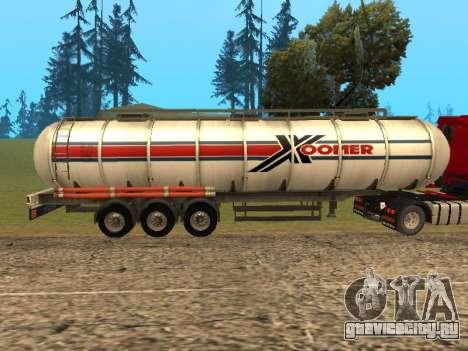 Цистерна Xoomer для GTA San Andreas вид слева