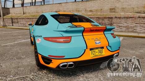 Porsche 911 Turbo 2014 [EPM] Gulf для GTA 4 вид сзади слева
