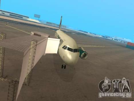 Airbus A319-111 Frontier Airlines Red Foxy для GTA San Andreas вид снизу