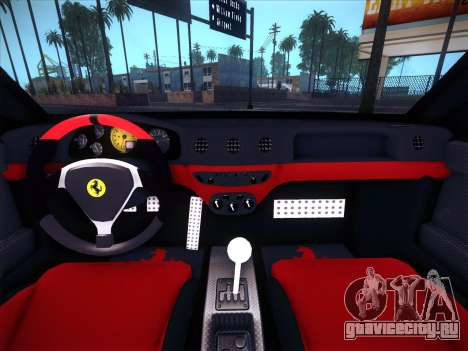 Ferrari 360 Challenge Stradale для GTA San Andreas вид изнутри
