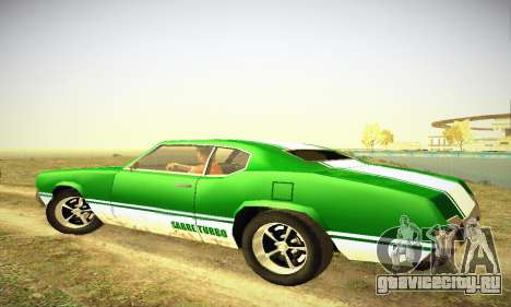 GTA IV Sabre Turbo для GTA San Andreas вид сзади